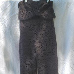 Topshop black strapless romper size 12 nwot.